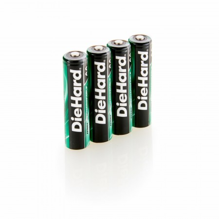 DieHard 4AA NiMH Rechargeable Batteries 2000Ma
