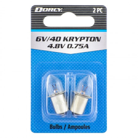 41-1663 6V 4D Krypton Bulb 2 Pack