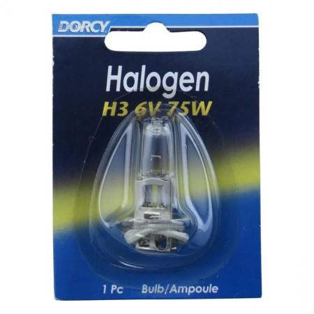 41-1682 H3 6 Volt 75 Watt Halogen Bulb