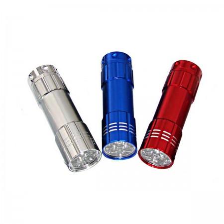 9 LED Aluminum Flashlight 3 Pack