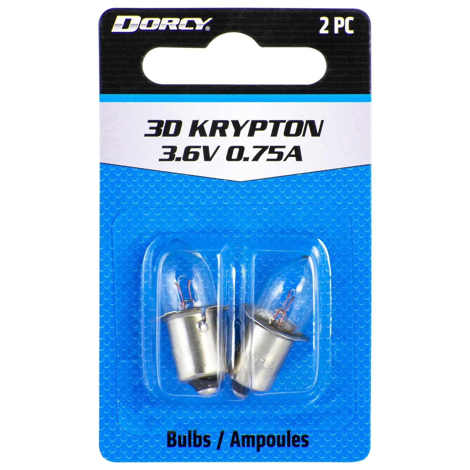Dorcy 41-1661 3D-3.6-Volt 0.75A Bayonet Base Krypton Replacement Bulb 2-Pack