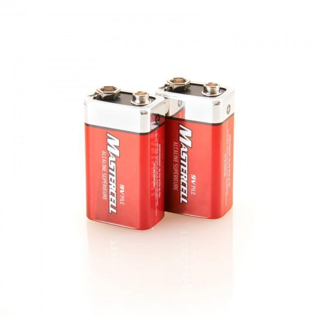 Mastercell 9V Alkaline (2 Pack)
