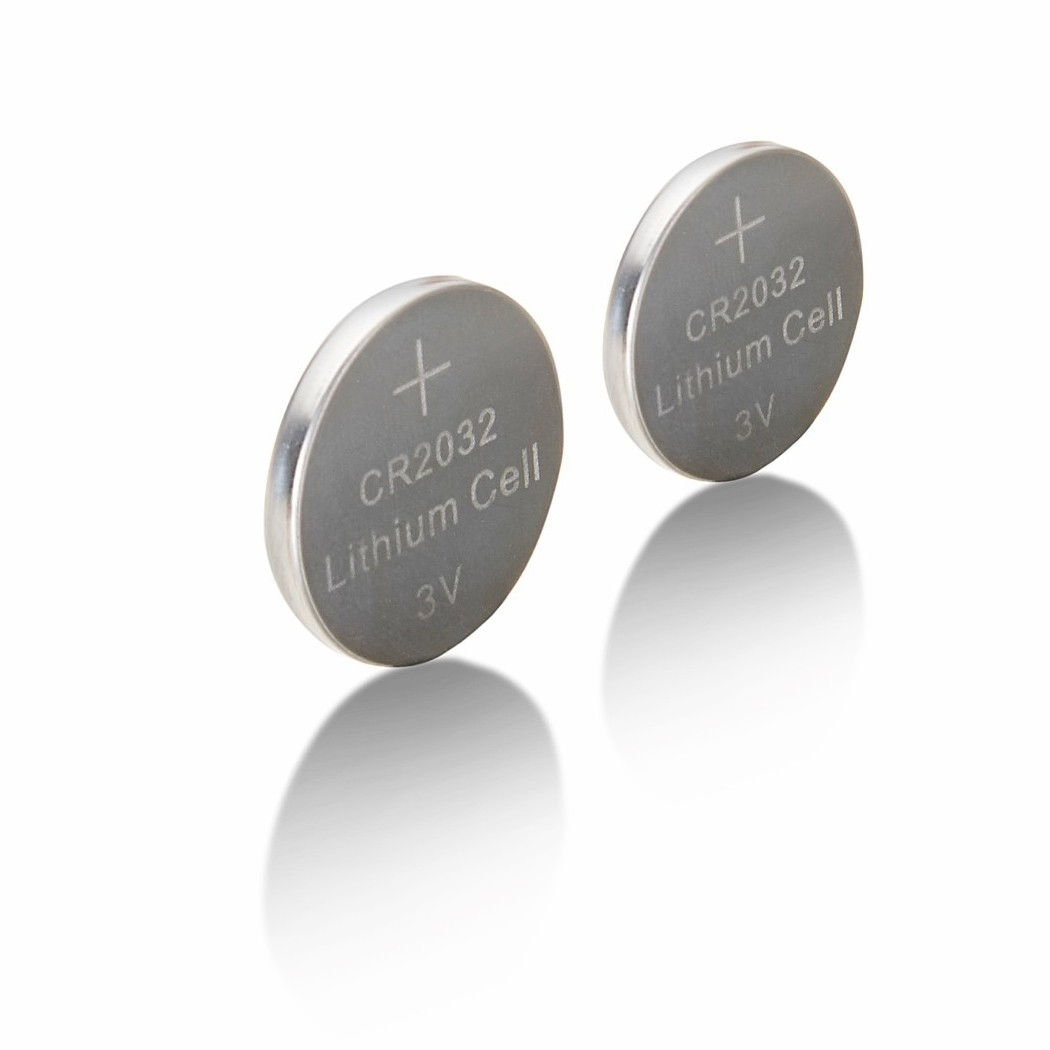 Mastercell Lithium 2032 Coin Cell Batteries (2 Pack)