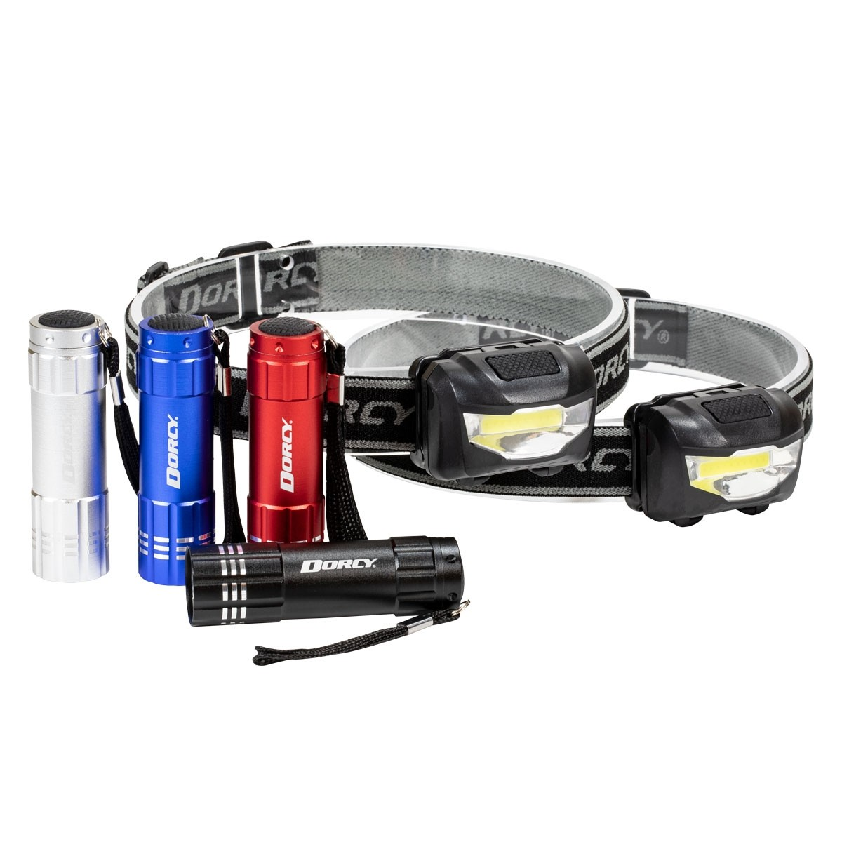 COB Flashlights and Headlamps Combo
